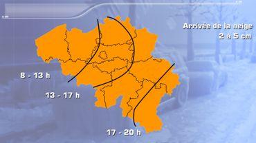 Après-midi neigeuse vendredi:la situation sur nos routes en temps réel