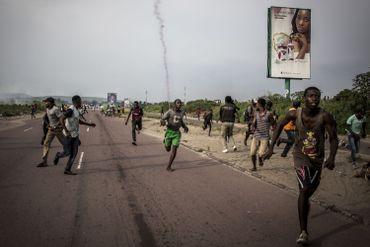 Des partisans de Martin Fayulu lors d'une manifestation à Kinshasa le mois dernier