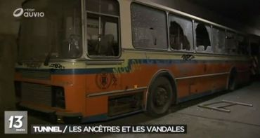 """Ce qu'il reste du bus utilisé par Benoît Mariage dans """"Cow Boy"""" en 2007."""