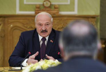 Alexandre Loukachenko, le président biélorusse, lors d'une rencontre avec Mike Pompeo, le 1er février 2020