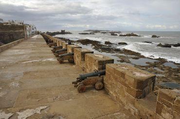 Les canons sur les remparts d'Essaouria