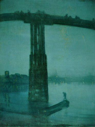 """Nocturne en bleu et or"" de James McNeill Whistler"