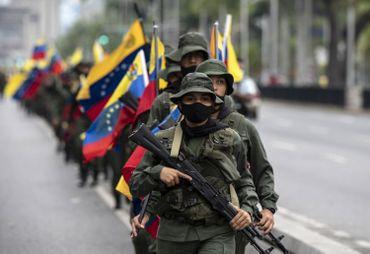 Militaires dans les rues de Caracas, ce 5 mars 2021