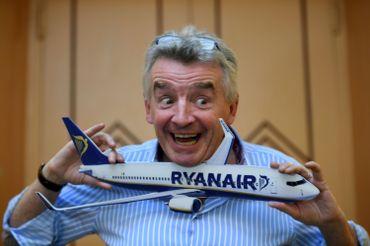 Fantasque et plein d'humour, Michael O'Leary n'hésite pas à se mettre en scène.