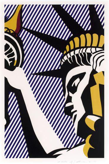 Roy Lichtenstein, I Love Liberty, 1982 Sérigraphie sur papier Arches 88 97.5 x 68.8 cm Collection Lex Harding