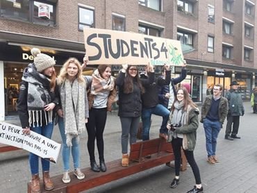"Les étudiants de ""Students for climate"" se sont joints à l'appel"