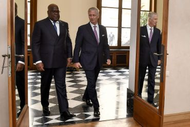 Le roi Philippe reçoit le président Felix Tshisekedi au palais royal.