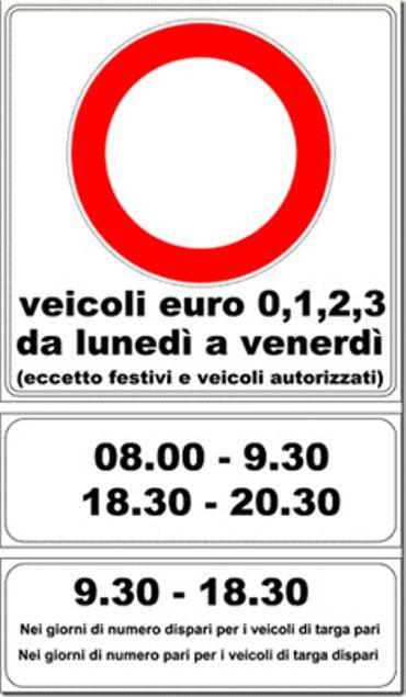 Italie: des panneaux pas toujours clairs et pas toujours visibles.