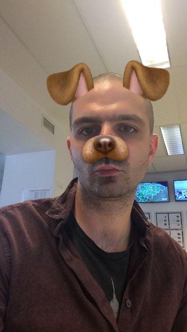 Le masque p'tit chien, c'est LE classique de Snapchat. Et puis c'est tellement la classe.