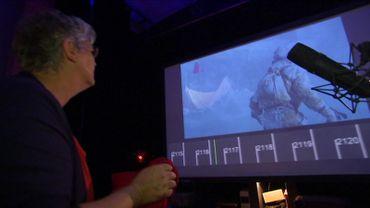 Marie-Jeanne Wyckmans, grande passionnée de cinéma, est bruiteuse