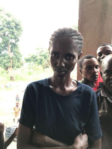 Florence s'est réfugiée avec ses enfants à Makotipoko.