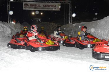 Kart sur glace à Breuil-Cervinia