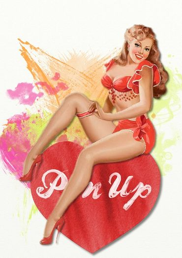 La pin-up
