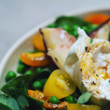 Une salade bien fraîche à base de couscous perlé