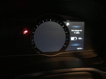 Après 82 km (aller), la batterie n'affiche déjà plus que 48% d'autonomie.