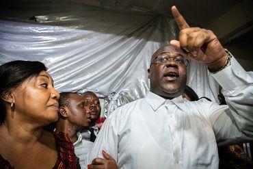 Félix Tshisekedi, juste après l'annonce des résultats par la Céni cette nuit