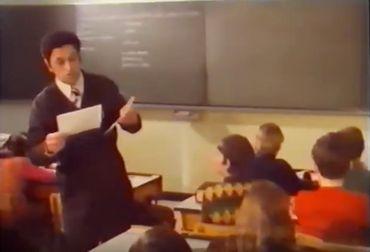 Louis Toussaint dans sa classe.