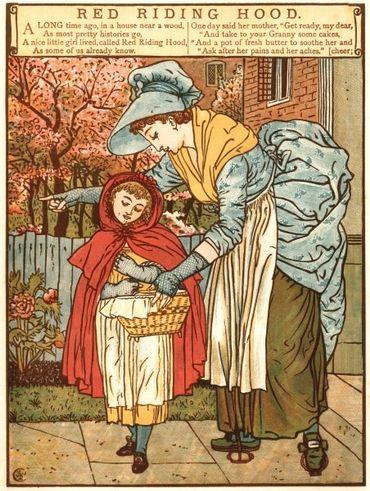 Le Petit Chaperon Rouge, illustration de Walter Crane (1845-1915)