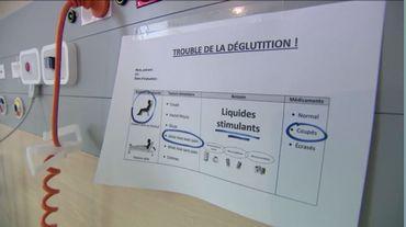 Type d'affiche que l'on retrouve dans les chambres des patients ayant besoin d'une alimentation spécifique.