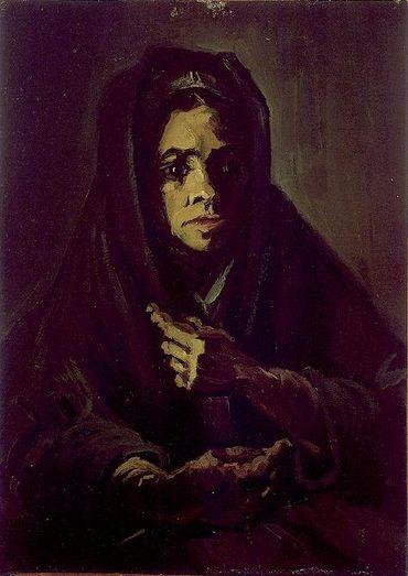 Vincent Van Gogh - Femme avec un châle de deuil