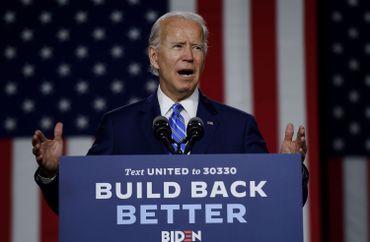 Le candidat démocrate Joe Biden lors d'un meeting électoral à New Castle (Delaware), le 21 juillet 2020.