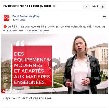 Transparence des publicités politiques: quel parti sponsorise le plus ses posts Facebook?