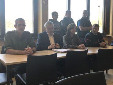 Le ministre Collin lors de la conférence de presse organisée ce vendredi à Virton.