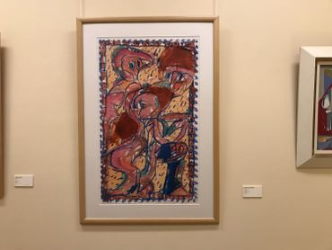 Une aquarelle de Pierre Alechinsky (1979)