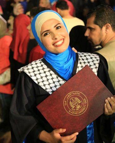 Abeer est diplômée de l'Université de Gaza