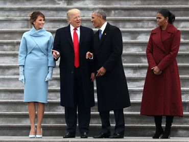 Couples Trump- Obama le 20 janvier 2017