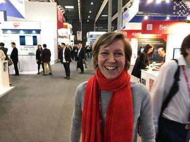 Sylvie Vandevelde, porte-parole de la société Belgian mobile ID, éditrice de la solution ItsMe.