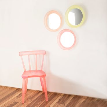 Glow mirrors + chair
