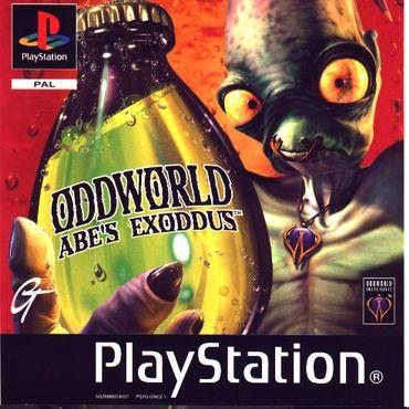 Oddworld : L'exode d'Abe, jacquette sur PlayStation