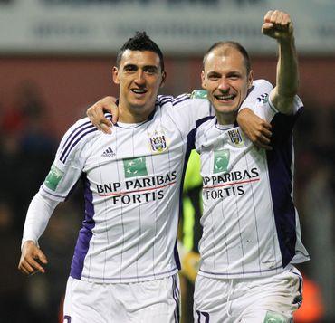 Matias Suarez et Milan Jovanovic