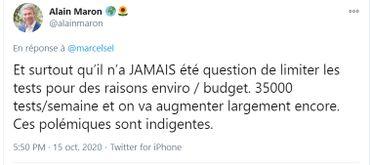 """""""L'impact du testing, il est environnemental, d'abord"""" : le bout de  phrase d'Alain Maron qui fait bondir le CDH bruxellois"""