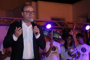 Le candidat durant la campagne électorale en septembre 2019, à Tunis