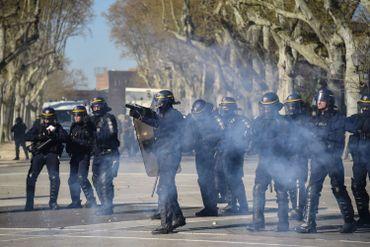 La police présente aussi à Montpellier