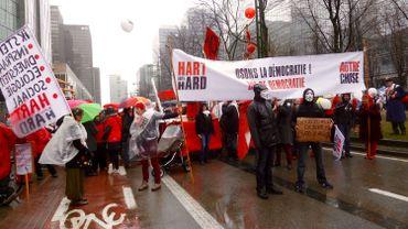 """La grande parade du 29 mars 2015, organisée par """"Hart Boven Hart"""" et """"Tout Autre Chose"""""""