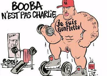 Booba caricaturé par Luz