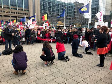Entre 1.000 et 1.500 personnes ont défilé dans les rues de Bruxelles.