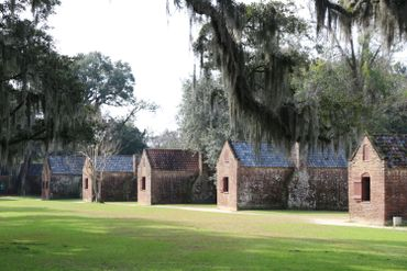 Au Boone Hall, on visite une ancienne plantation avec les maisons d'esclaves encore debout