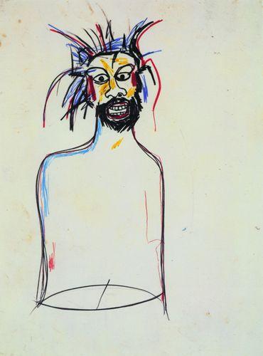 Jean-Michel Basquiat - Untitled (Portrait) – 1984 Crayons gras sur papier 76 x 56 cm