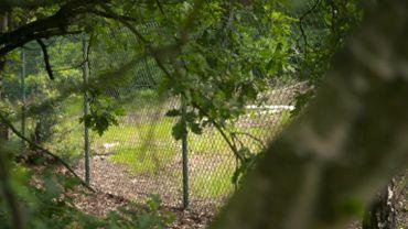 Une simple clôture entoure la Décharge D1 d'Umicore.