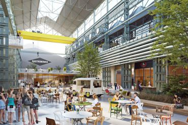 Gastronomia à Seraing:la halle industrielle rénovée accueillera des commerces de bouche
