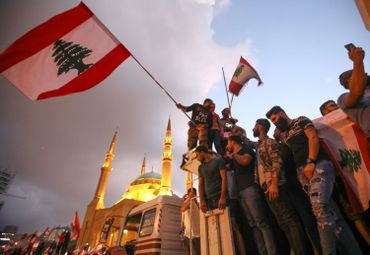 Protestation dans le centre de Beyrouth, ce 20 octobre