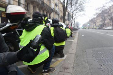 Manifestation des gilets jaunes à Bordeaux en décembre 2018
