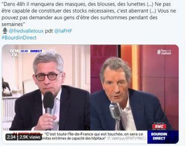 """Coronavirus: les hôpitaux d'Ile-de-France saturés """"sous 24h à 48h"""""""