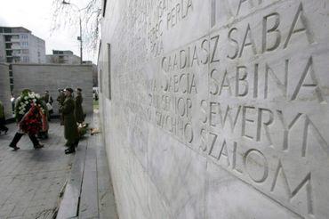 Mémorial du ghetto à Varsovie, en 2006
