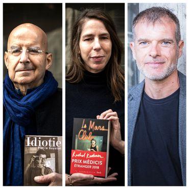 Da gauche à droite: Pierre Guyotat, Rachel Kushner et Stefano Massini.
