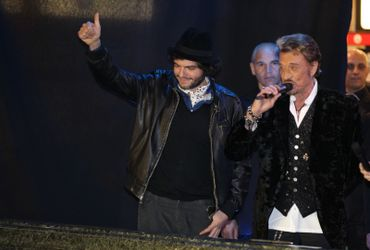 Matthieu Chedid et Johnny Hallyday